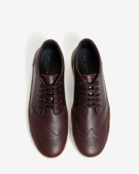 Ted Baker | Brown Brogue Detail Suede Trainers for Men | Lyst