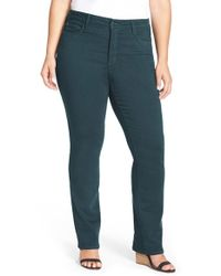 NYDJ | Blue 'marilyn' Stretch Straight Leg Jeans | Lyst