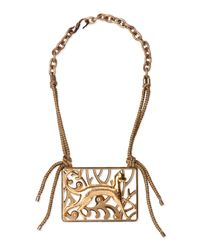 Lanvin | Multicolor Brass Animal Necklace | Lyst