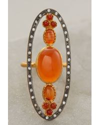 Anthropologie - Orange Omorose Ring - Lyst