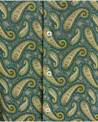 Zara   Green Printed Shirt for Men   Lyst