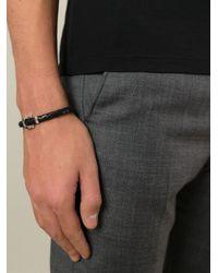 Ferragamo - Black Woven Gancio Bracelet for Men - Lyst