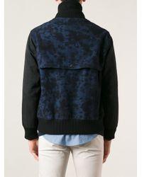 Soulland - Blue Camouflage Varsity Jacket for Men - Lyst