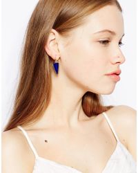 Kenneth Jay Lane | Blue Triangular Drop Earrings | Lyst
