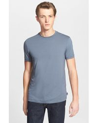 Armani | Gray Crewneck T-shirt for Men | Lyst