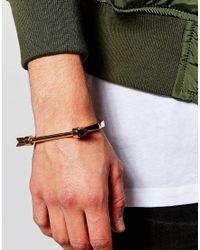 Mister - Metallic Arrow Bangle Bracelet for Men - Lyst