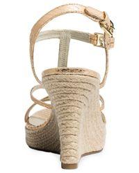 Michael Kors - Metallic Michael Cicely Platform Wedge Sandals - Lyst
