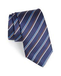 Eton of Sweden | Blue Stripe Silk Tie for Men | Lyst