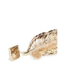 Valentino - Metallic 'rockstud' Feather Earrings - Lyst