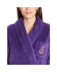 Pink Pony - Purple Plush Shawl-collar Robe - Lyst