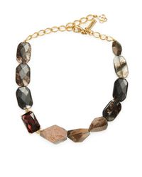 Oscar de la Renta | Multicolor Quartz And Crystal Mixed Strand Necklace | Lyst