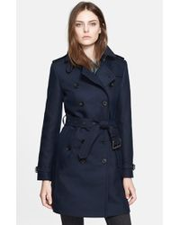 Burberry Brit | Blue 'bramington' Cotton Blend Trench Coat | Lyst
