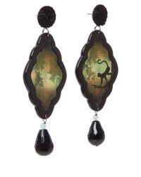 Anna E Alex | Black Monkey Safari Deco Wooden Earrings | Lyst