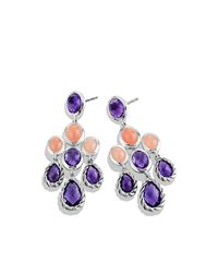 David Yurman - Purple Chandelier Earrings - Lyst