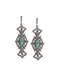 Armenta | Metallic New World Open Crest Drop Earrings | Lyst