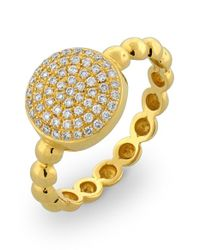 Bony Levy - Metallic Diamond Pave Circle Ring (nordstrom Exclusive) - Lyst