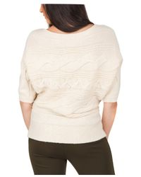 Jane Norman Natural Batwing Cable Jumper