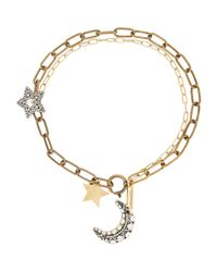Lanvin - Metallic Elise Necklace - Lyst