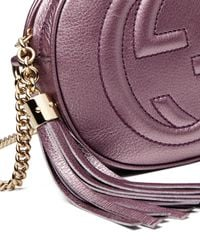 Gucci - Pink Soho Metallic Leather Mini Chain Bag - Lyst