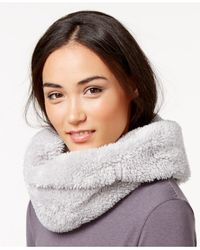 Calvin Klein | Gray Performance Faux Sherpa Fleece Neckwarmer | Lyst