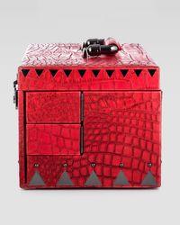 Eddie Borgo - Red Crocodileembossed Jewelry Box R - Lyst