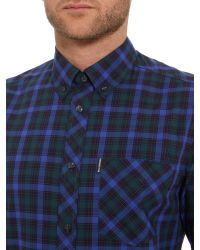 Ben Sherman - Blue Pop Tartan Check Long Sleeve Shirt for Men - Lyst