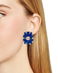 kate spade new york - Blue Turn Heads Statement Stud Earrings - Lyst