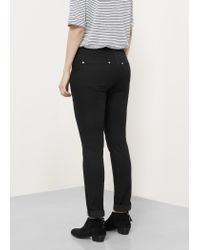 Violeta by Mango | Black Slim-fit Julie Jeans | Lyst