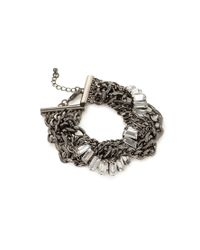 Forever 21 - Metallic Twisted Rhinestone Bracelet - Lyst