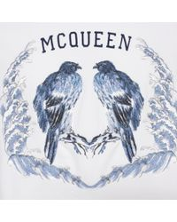 Alexander McQueen - White Bird Embroidered Sweatshirt for Men - Lyst