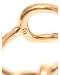 Balenciaga - Metallic Asymmetric Bow Ring - Lyst