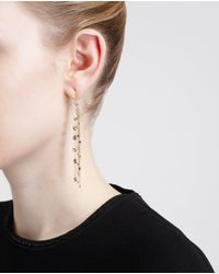 Natasha Collis - Metallic 18 K Gold And Black Diamond Waterfall Earrings - Lyst