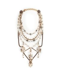 Erickson Beamon | Metallic Ballroom Dancing Multi-strand Pearls And Crystal Necklace | Lyst