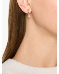 Eddie Borgo - Metallic Gemstone Cone Hoop Earrings - Lyst