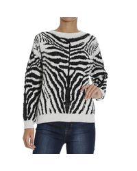 DIESEL - Multicolor Zebra Cotton Blend Jacquard Sweater - Lyst