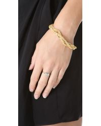 Petite Grand - Blue Raised Stone Ring - Lyst