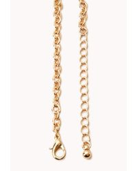 Forever 21 - Metallic Bold Bauble Bib Necklace - Lyst
