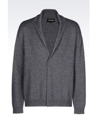 Emporio Armani | Gray Blouson In Virgin Wool for Men | Lyst