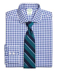 Brooks Brothers | Blue Check Sport Shirt for Men | Lyst