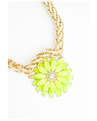 Missguided - Multicolor Margrett Neon Floral Statement Necklace - Lyst