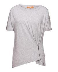 BOSS Orange | Gray T-shirt 'tazip' In Cotton | Lyst