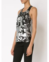 Elizabeth and James - Black Sequinned Vest - Lyst