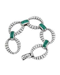 Lagos | Metallic Venus Malachite Fluted Link Bracelet | Lyst
