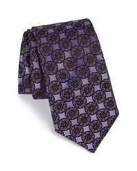 Ted Baker | Purple 'circle Medallion' Silk Tie for Men | Lyst