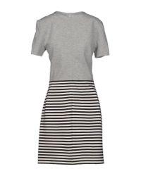 Tibi - Gray Short Dress - Lyst