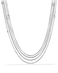 David Yurman | Metallic Confetti Station Necklace With Diamonds | Lyst