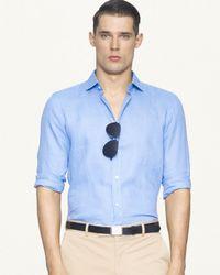 Ralph Lauren - Blue Black Label Tailored Linen Sloan Sport Shirt for Men - Lyst