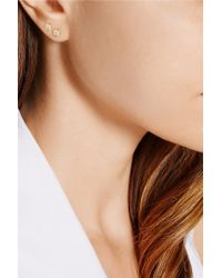 Jennifer Meyer - Metallic 18-karat Gold Diamond Circle Earrings - Lyst