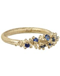 Ruth Tomlinson | Metallic Gold Sapphire Granule Ring | Lyst
