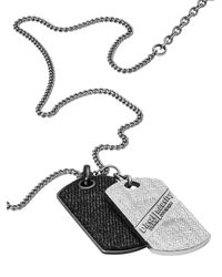 DIESEL - Metallic Necklace Dx0935 for Men - Lyst